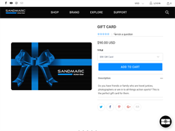 Sandmarc gift card purchase
