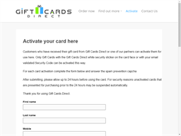 Gift Cards Direct gift card balance check