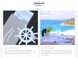 Jonah's Restaurant & Boutique Hotel gift card purchase