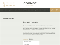 Coombe Yarra Valley gift card purchase