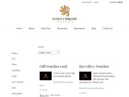 Josef Chromy Wines gift card purchase