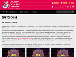 Melbourne International Comedy Festival gift card purchase