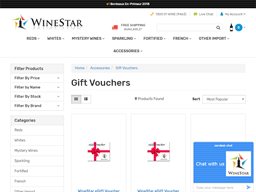 Wine Star gift card purchase