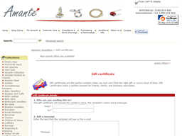 Amante Jewellery gift card purchase