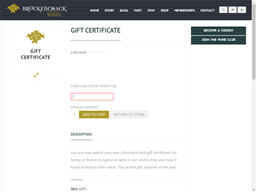 Brockenchack Wines gift card purchase