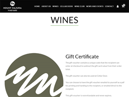 Mount Majura Vineyard gift card purchase