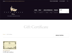Cape Grace Wines gift card purchase