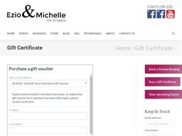 Ezio and Michelle De Angelis Mediums gift card purchase