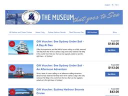 Sydney Heritage Fleet gift card purchase
