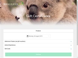 Shoalhaven Zoo gift card purchase