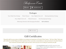 Balgownie Estate gift card purchase