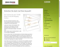 Oder-Center Schwedt gift card purchase