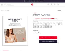 Rouge Gorge gift card purchase