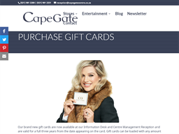 Capegate Shopping Centre gift card purchase