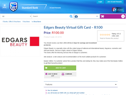 Standard Bank UCount gift card purchase