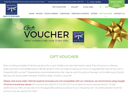Dragonfly Bury St Edmunds gift card purchase