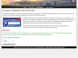 Sky Demon gift card purchase