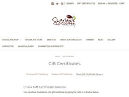 Charley's gift card balance check