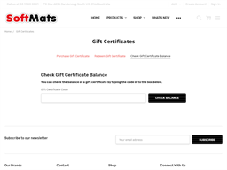Softmats gift card balance check