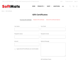 Softmats gift card purchase