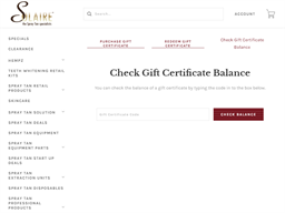 Solaire gift card balance check