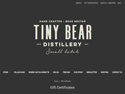 Tiny Bear Distillery gift card balance check