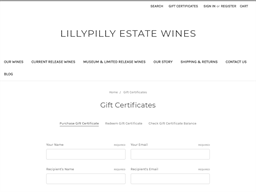 Lillypilly Wine Store gift card purchase