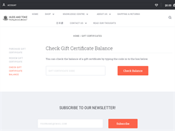 Huds and Toke gift card balance check