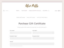 Afro Puffs Store gift card purchase