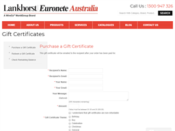 Lankhorst Euronete gift card purchase