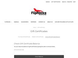Flip Rocks gift card balance check