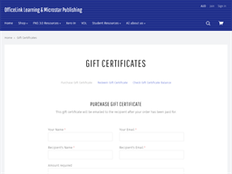 Office Link Learning gift card purchase
