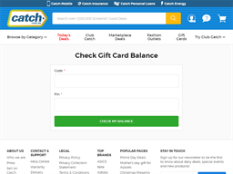 Catch gift card balance check