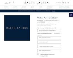 Ralph Lauren gift card purchase