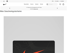 Nike gift card purchase