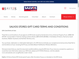 Salvos Stores shopping