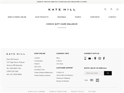 Kate Hill Flowers gift card balance check