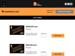 Ritz Cinema gift card purchase