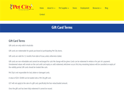 Pet City gift card purchase