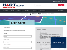 Hart Sport gift card purchase