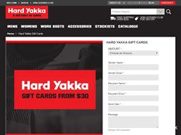 Hard Yakka gift card purchase