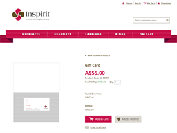 Inspirit gift card purchase