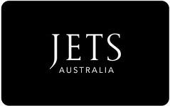 JETS Swimwear gift card design and art work