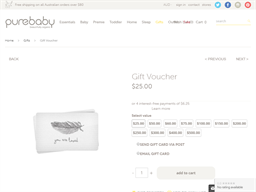 Purebaby gift card purchase