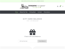 Taprobane Tea gift card balance check
