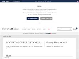 Dooney & Bourke gift card balance check