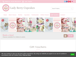 Lady Berry Cupcakes gift card purchase