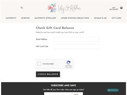 Lily & Ribbon gift card balance check