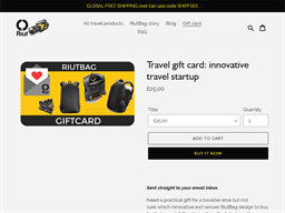 Riut Bag gift card purchase