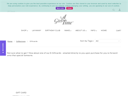 A Girl for All Time gift card purchase